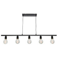 Mercator Fiona 5lt Black Long Hanging Pendant