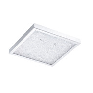 Eglo Cardito 19w LED Crystal Square Ceiling Light 4000K