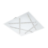 Eglo Sorrenta 16w LED Crystal Square Ceiling Light 3000K