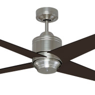 Mercator Pisa 130cm Nickel Motor Timber Blade Ceiling Fan