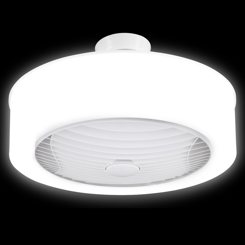 Ventair Manhattan White Enclosed Ceiling Fan Led Light Galaxy Lighting Fans