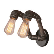 Eglo Foundry 2lt Industrial Pipe Wall Light