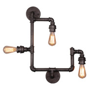 Eglo Foundry 3lt Industrial Pipe Wall Light