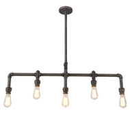 Eglo Foundry 5lt Industrial Pipe Hanging Pendant