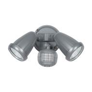 Telbix Illume 2 X 10w LED Exterior Spotlight & Sensor Silver