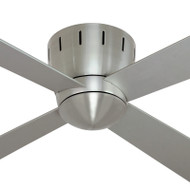 Mercator Seville 120cm Nickel Low Profile Timber Ceiling Fan