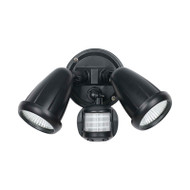 Telbix Illume 2 X 10w LED Exterior Spotlight & Sensor Black