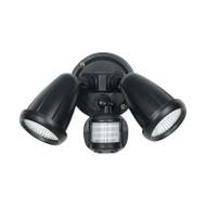 Telbix Illume 2 X 10w LED Exterior Spotlight & Sensor Black