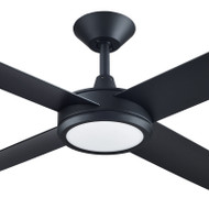 Hunter Pacific Concept 3 130cm Black Plastic Indoor/Outdoor Ceiling Fan & LED Light