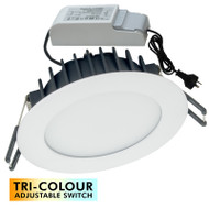 PHL Channel 12w TRI-COLOUR LED Down Light White
