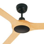 Ventair Spyda 157cm Black/Bamboo Plastic Indoor/Outdoor Ceiling Fan