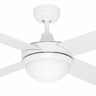 Mercator Caprice 130cm White Timber Ceiling Fan & Light