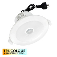 Brilliant LumaScan 9w Tri-Colour LED Down Light & Sensor