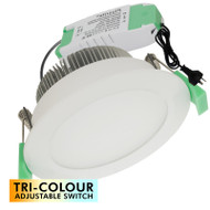 Plusrite AU08 TRI-COLOUR 13w LED Down Light White