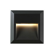 Telbix Prima Square LED Exterior Wall Light Black