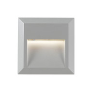 Telbix Prima Square LED Exterior Wall Light Silver