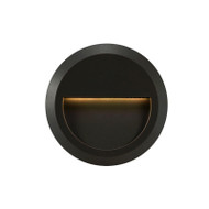 Telbix Prima Round LED Exterior Wall Light Black