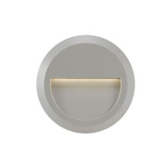 Telbix Prima Round LED Exterior Wall Light Silver