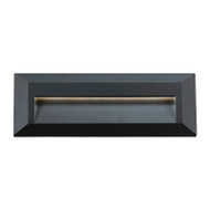 Telbix Prima Rectangle LED Exterior Wall Light Black