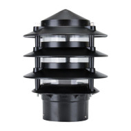 Domus BL-100 Louvre Garden Bollard Head Only Black
