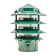 Domus BL-100 Louvre Garden Bollard Head Only Green