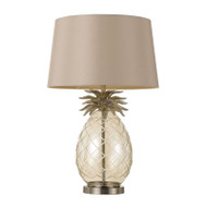 Telbix Ananas Champagne & White Table Lamp