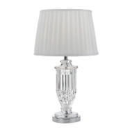 Telbix Adria Clear & White Table Lamp