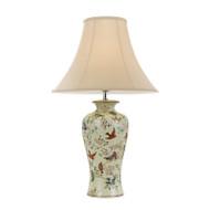 Telbix Shibo Floral Pattern & Cream Table Lamp