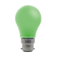 GE 25w B22 Incandescent GLS Shape Green Party