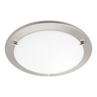 Mercator Nova 2lt Brushed Nickel Ceiling Oyster