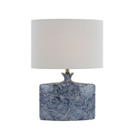 Telbix Nakato Blue Pattern & White Table Lamp