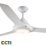 Deka EVO-2 127cm White Plastic Indoor/Outdoor Ceiling Fan & LED Light