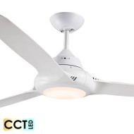 Decco EVO-2 147cm White Plastic Indoor/Outdoor Ceiling Fan & LED Light