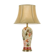 Telbix Lantau Flower & Gold Table Lamp