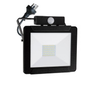 Mercator Dino 30w 4000K LED Slim Flood Light & Sensor Black