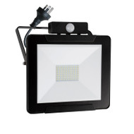 Mercator Dino 50w 4000K LED Slim Flood Light & Sensor Black
