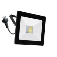 Mercator Ludo 30w 4000K LED Slim Flood Light Black
