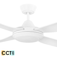 Eglo Bondi 132cm White Plastic Indoor/Outdoor Ceiling Fan & LED Light
