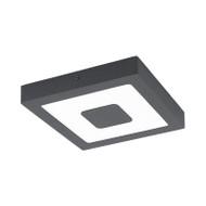 Eglo Iphias 16w 3000K LED Square Ceiling Oyster Graphite