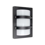Oriel Trio MINI Rectangle Aluminium Exterior Wall Light Black