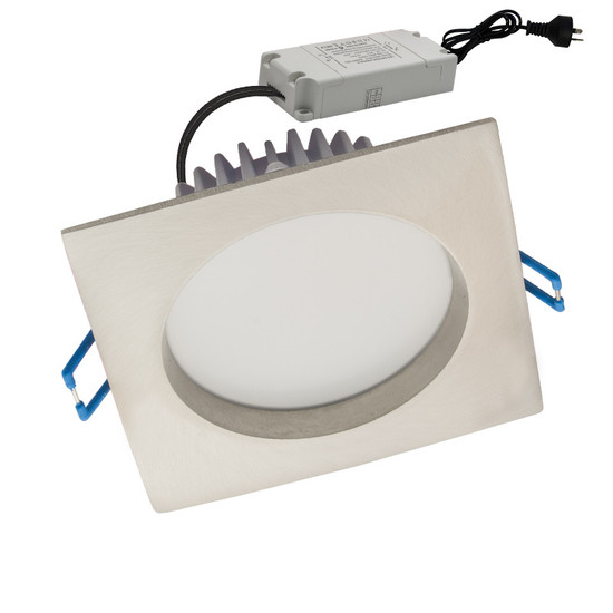 Cla Gal08a 10w 5000k Square Led Down Light Satin Chrome Galaxy Lighting Amp Fans