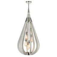 CLA Bonito8 6lt Polished Nickel & Winter Moss Hanging Pendant Large