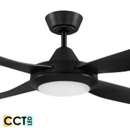 Eglo Bondi 122cm Black Plastic Indoor/Outdoor Ceiling Fan & LED Light