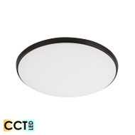 Eglo Ollie 12w TRI-COLOUR LED Ceiling Oyster Black