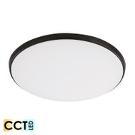 Eglo Ollie 18w TRI-COLOUR LED Ceiling Oyster Black