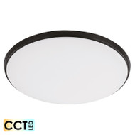 Eglo Ollie 28w TRI-COLOUR LED Ceiling Oyster Black