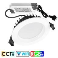 Brilliant Prism 10w Smart Wi-Fi RGB CCT LED Down Light White