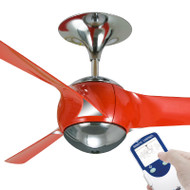 Ventair Eon 140cm Red Plastic Blade Ceiling Fan