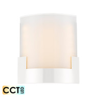 Telbix Solita 20 12w Frost Glass CCT LED Wall Light White
