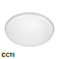 Apollo Saturn 18w TRI-COLOUR LED Ceiling Oyster White